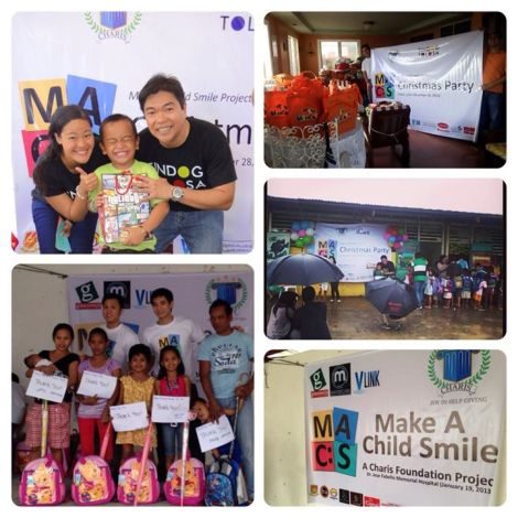 MACS all around. Photos of MACS in Tolosa Leyte (top two), in San Remigio, Cebu (middle of 2nd column), and in DSWD center in Mandaluyong (bottom two photos).