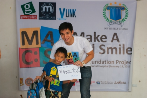 CHARIS President Chris Tiu with one MACS Inaanak