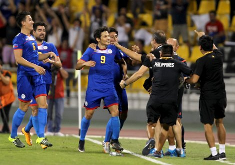The Man on Fire: Misagh Bahadoran celebrates with teammates after scoring the opening goal vs. Yemen