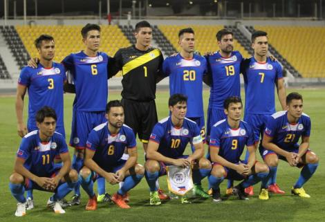 Azkals starting IX with almost a similar line-up vs. Bahrain except for No. 6 Luke Woodland who replaced Rob Gier in the middle of defense.